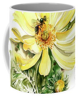 Coffee Mug featuring the painting Healing Your Heart by Anna Ewa Miarczynska