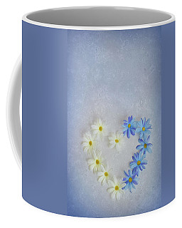 Heart And Flowers Coffee Mug