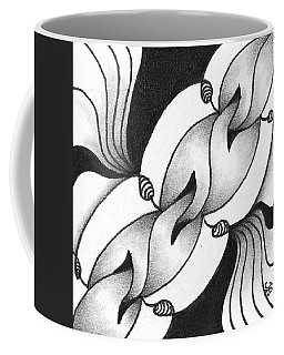 Coffee Mug featuring the drawing Heart Connections by Jan Steinle