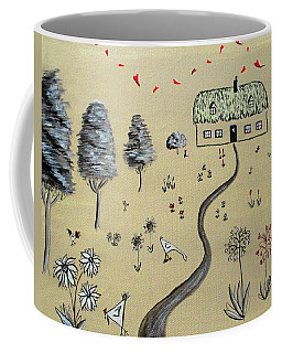 Heart Cottage Red 1  Coffee Mug