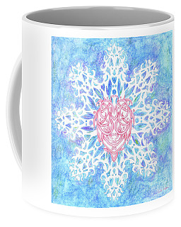 Heart In Snowflake Coffee Mug