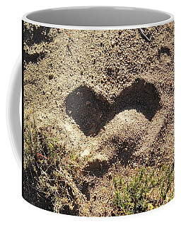 Heart In The Sand Coffee Mug