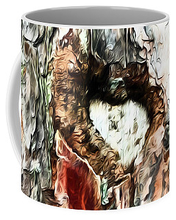 Coffee Mug featuring the photograph Heart In The Tree by Kerri Farley