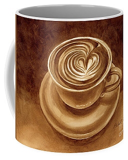Coffee Mug featuring the painting Heart Latte by Hailey E Herrera