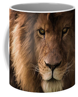 Heart Of A Lion - Wildlife Art Coffee Mug