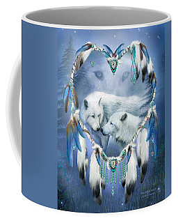 Coffee Mug featuring the mixed media Heart Of A Wolf 3 by Carol Cavalaris
