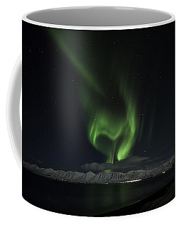 Heart Of Northern Lights Coffee Mug by Frodi Brinks