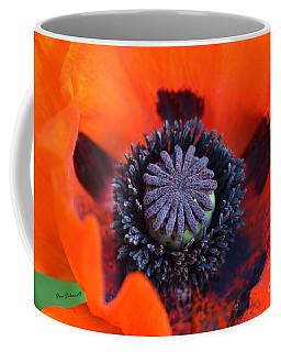 Heart Of The Poppy  Coffee Mug