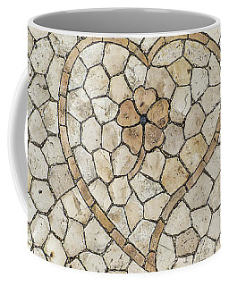 Heart Shaped Traditional Portuguese Pavement Coffee Mug