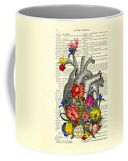 Heart With Colorful Flowers Coffee Mug