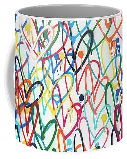 Hearts And Dots Coffee Mug
