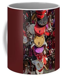 Hearts Locked In Love Coffee Mug