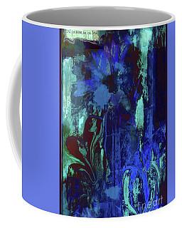 Red Heart- Blue Flowers Coffee Mug
