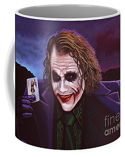 Heath Ledger As The Joker Painting Coffee Mug