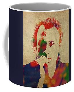 Heath Ledger Watercolor Portrait Coffee Mug