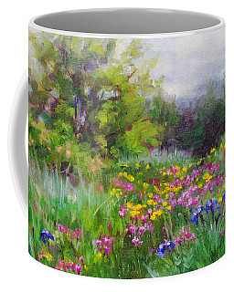 Coffee Mug featuring the painting Heaven Can Wait by Talya Johnson