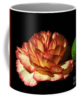 Heavenly Outlined Carnation Flower Coffee Mug