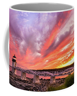 Coffee Mug featuring the photograph Heavens On Fire - Port Clyde by Expressive Landscapes Fine Art Photography by Thom