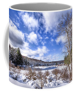 Coffee Mug featuring the photograph Heavy Snow At The Green Bridge by David Patterson