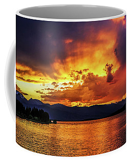 Coffee Mug featuring the photograph Hebgen Lake Sunset by Jemmy Archer