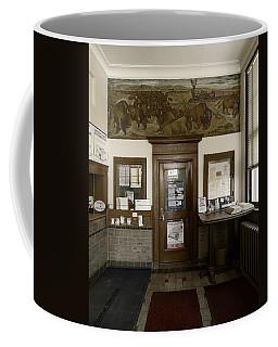 Hebron Nebraska Post Office Mural Coffee Mug