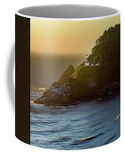 Heceta Head Lighthouse At Sunset Coffee Mug