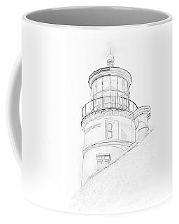Hecitia Head Lighthouse Sketch Coffee Mug