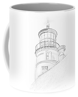 Hecitia Head Lighthouse Sketch Coffee Mug