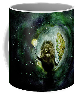 Hedgehog In The Fog. Sand Art  Coffee Mug