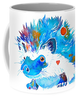 Hedgehog With Heart Coffee Mug