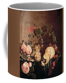Heem Jan Davidsz De Still Life With Flowers And Fruit Coffee Mug