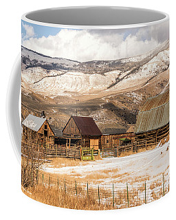 Heeney Road Barns And Snow Coffee Mug