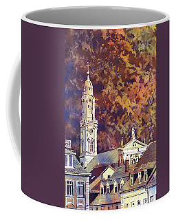 Coffee Mug featuring the painting Heidelberg Evening by Ryan Fox