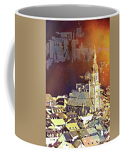 Coffee Mug featuring the painting Heidelberg Sunset- Germany by Ryan Fox