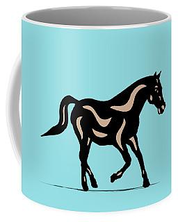 Heinrich - Pop Art Horse - Black, Hazelnut, Island Paradise Blue Coffee Mug