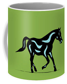 Heinrich - Pop Art Horse - Black, Island Paradise Blue, Greenery Coffee Mug