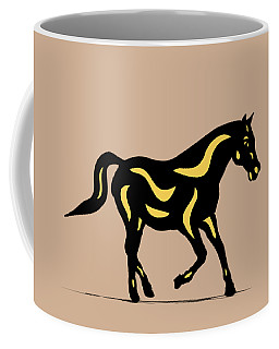 Heinrich - Pop Art Horse - Black, Primrose Yellow, Hazelnut Coffee Mug
