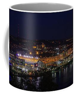 Heinz Field At Night From Mt Washington Coffee Mug