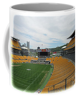 Heinz Stadium With Pittsburgh Skyline Coffee Mug