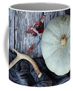 Heirloom Pumpkins Winter Scarf And Antlers Coffee Mug
