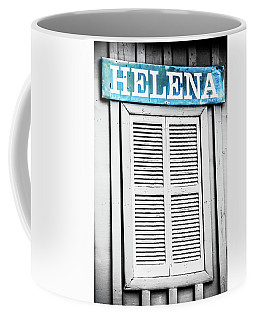 Coffee Mug featuring the photograph Helena Selective Color Sign by Parker Cunningham