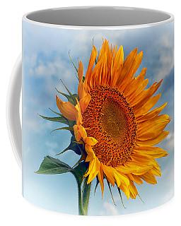 Helianthus Annuus Greeting The Sun Coffee Mug