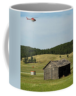 Helicopter Dips Water At Heliwell Coffee Mug