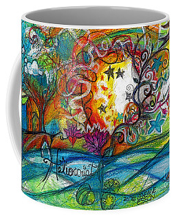 Coffee Mug featuring the painting Helios And Ophelia Posterized by Genevieve Esson