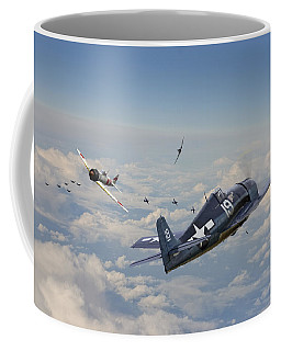 Hellcat F6f - Duel In The Sun Coffee Mug by Pat Speirs