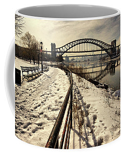 Hellgate Bridge In Winter Coffee Mug