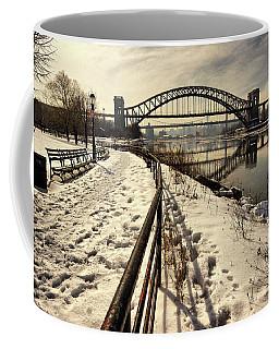 Hellgate Bridge In Winter Coffee Mug