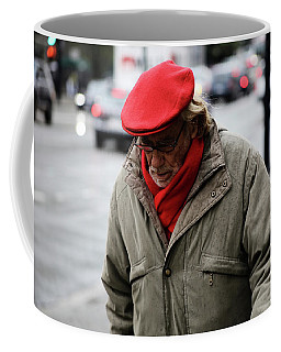 Coffee Mug featuring the photograph Hello Bonjour  by Empty Wall