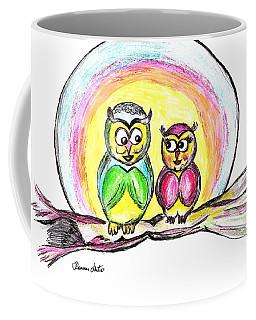 Coffee Mug featuring the drawing Hello Moonlight  by Ramona Matei