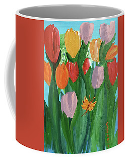 Hello Spring Tulips Coffee Mug